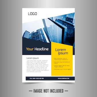 Corporate flyer designvorlage