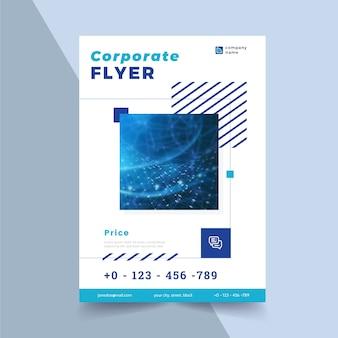 Corporate flyer vorlage mit formen und foto