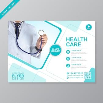 Corporate healthcare und medizinische abdeckung a4 flyer entwurfsvorlage