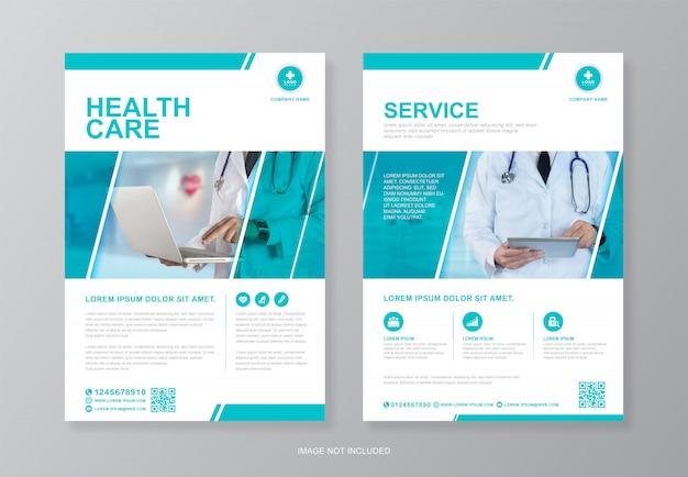 Corporate healthcare und medizinische seite a4 flyer design-vorlage