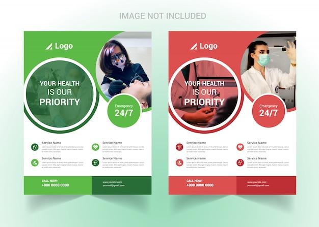 Corporate healthcare und medizinischer flyer