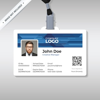Corporate id-kartenvorlage
