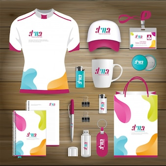 Corporate identity business geschenkartikel design-vorlage mock-up
