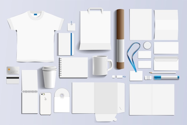 Corporate identity business items.