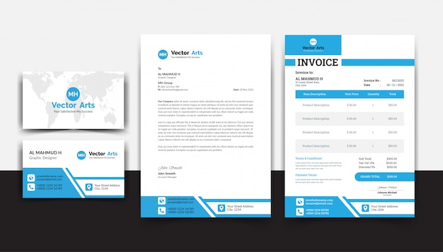 Corporate identity design vorlage