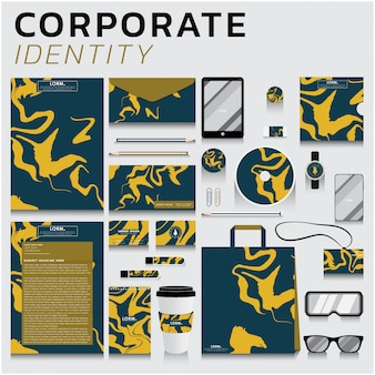 Corporate identity für business- und marketingdesign