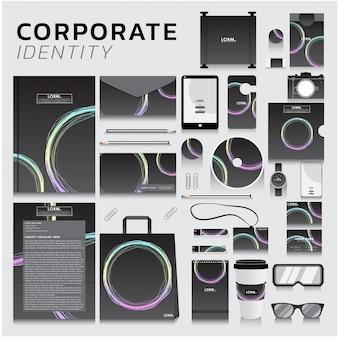 Corporate identity für business- und marketingdesign