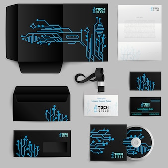 Corporate Identity Technologie Muster