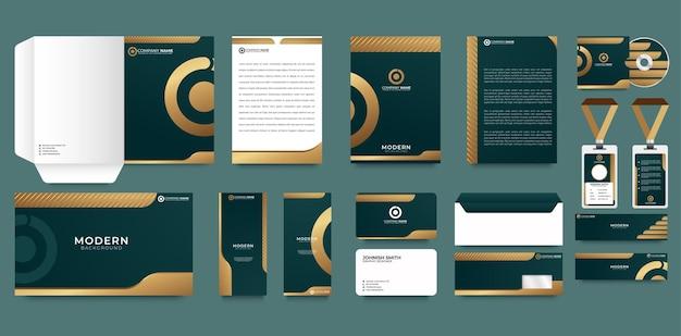 Corporate identity-vorlage mit digitalen elementen