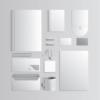 Corporate identity-vorlage weißes modell vektor-firmenstil für markenbuch und richtlinie