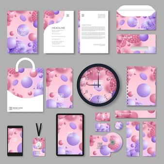 Corporate identity-vorlagensatz. branding-design. leere vorlage. geschäftsbriefpapiermodell mit logo. große sammlung.