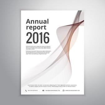 Corporate jahresbericht broschüre identity-vorlage mit grauen welle