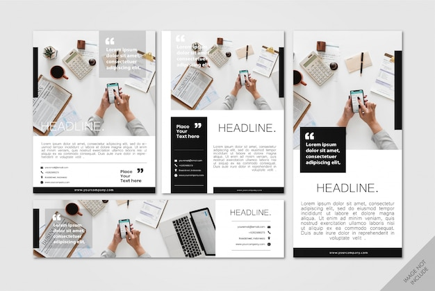 Corporate layout pack minimalistisch