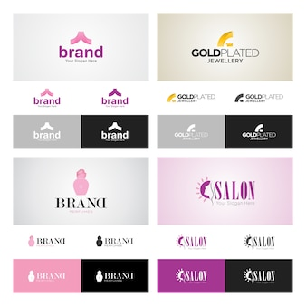 Corporate logo design set
