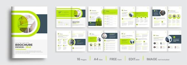 Corporate mehrseitige business-broschüre-designvorlage firmenprofil-vorlagenlayout