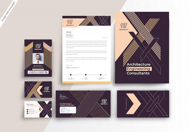 Corporate modern branding identity-vorlage