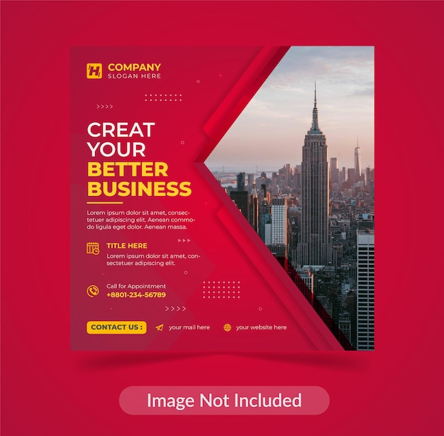 Corporate modern creative digital business agency flyer social media post template design