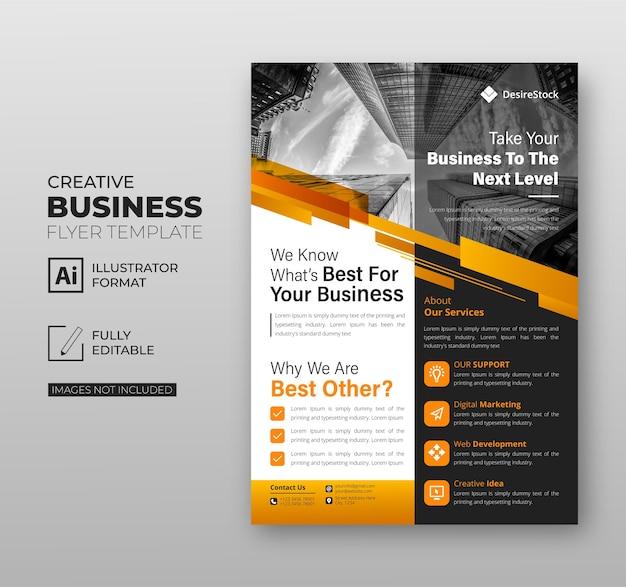 Corporate modern flyer vorlage