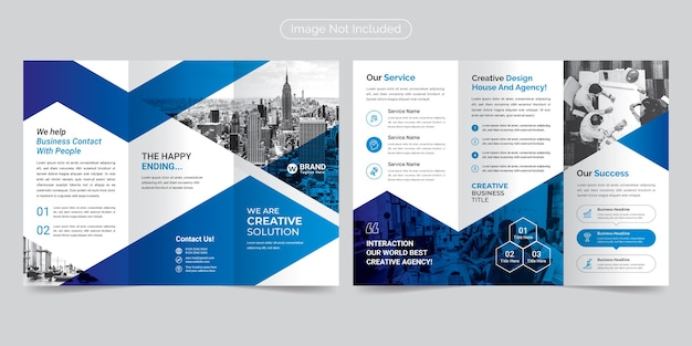 Corporate modern & professional trifold broschüre