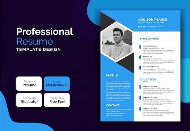 Corporate modern resume curriculum template design