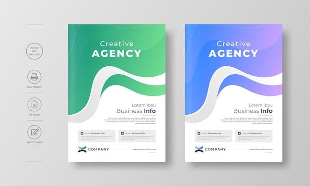 Corporate moderne flyer-design-vorlage
