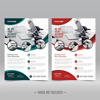 Corporate poster flyer design-vorlage