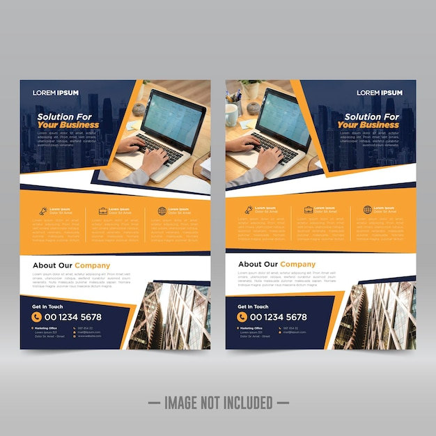 Corporate poster flyer designvorlage