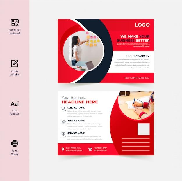 Corporate postkarten-design