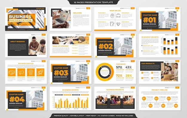 Corporate powerpoint-layout-vorlage premium-vektor