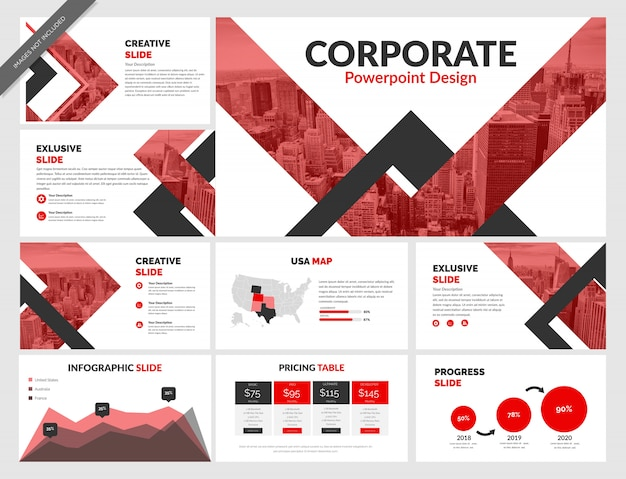 Corporate powerpoint-vorlage