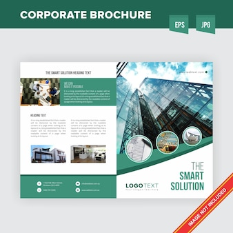 Corporate real estate unternehmensbroschüre vorlage