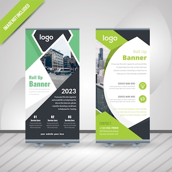Corporate roll-up banner design