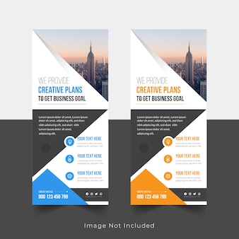 Corporate roll up banner signage standee design