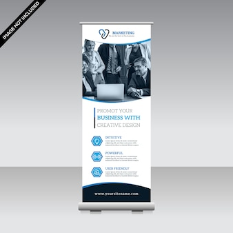 Corporate roll-up banner vorlage