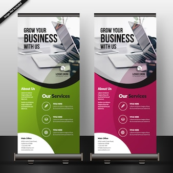 Corporate roll up banner vorlage