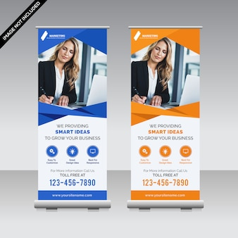 Corporate roll-up-banner