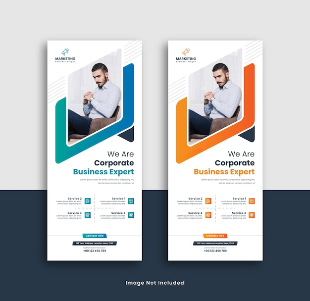 Corporate rollup-banner-vorlagendesign