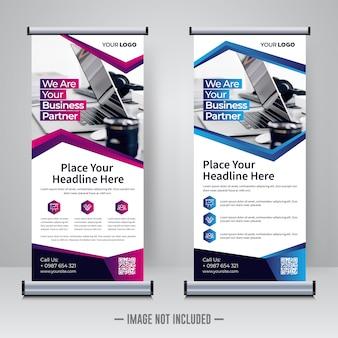Corporate rollup design-vorlage
