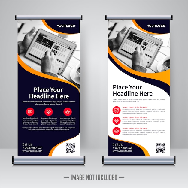 Corporate rollup design-vorlage