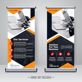 Corporate rollup oder x banner design vorlage