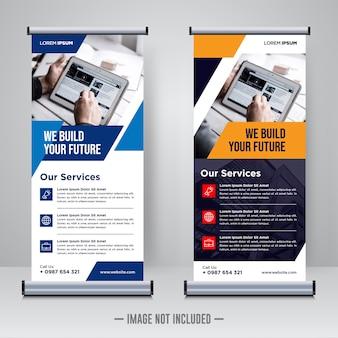 Corporate rollup oder x banner design vorlage