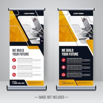 Corporate rollup- oder x-banner-designvorlage