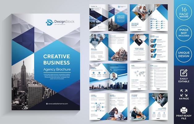 Corporate seiten broschüre vorlage