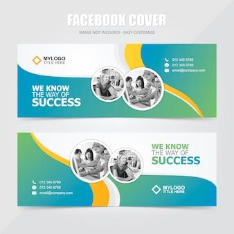 Corporate social media facebook banner vektor vorlage