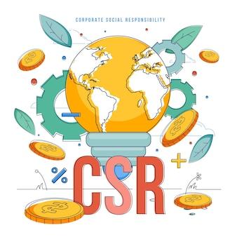 Corporate social responsibility-konzept