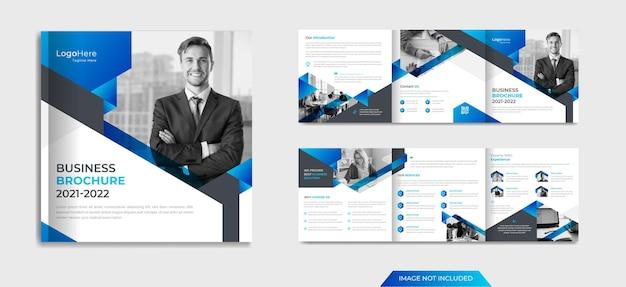 Corporate square broschürendesign mit modernen formen premium-vektor