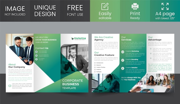 Corporate trifold broschüre design