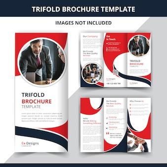 Corporate trifold broschüre entwurfsvorlage