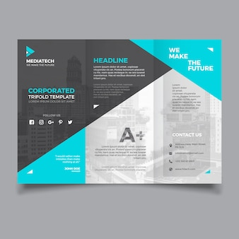 Corporate trifold vorlage