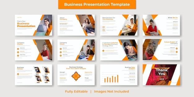 Corporate und moderne business powerpoint-präsentation und google slide template design